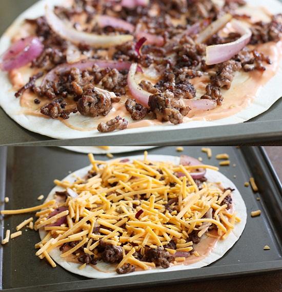 Cách làm pizza thịt bò kiểu Mexico siêu ngon