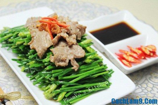 Cực nhanh, cực ngon với món thịt bò xào bông hẹ hấp dẫn